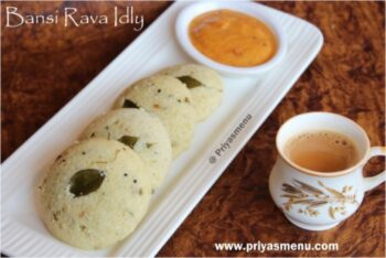 Bansi Rava Idly - Plattershare - Recipes, Food Stories And Food Enthusiasts