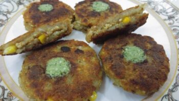 Stuffed Raw Banana Cutlets - Plattershare - Recipes, Food Stories And Food Enthusiasts