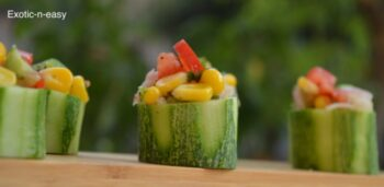 Cucumber Corn Bites - Plattershare - Recipes, Food Stories And Food Enthusiasts