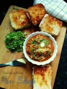 Quick Pav Bhaji - Plattershare - Recipes, Food Stories And Food Enthusiasts