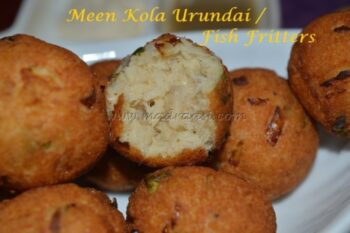 Fish Fritters / Meen Kola Urundai - Plattershare - Recipes, Food Stories And Food Enthusiasts
