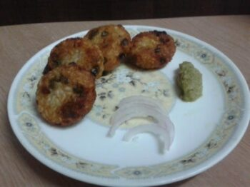 Barley Grains And Veggie Tikki - Plattershare - Recipes, Food Stories And Food Enthusiasts