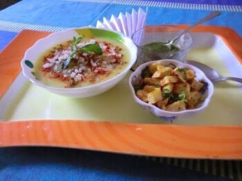 Moong Dal Ki Chat And Fried Potato - Plattershare - Recipes, Food Stories And Food Enthusiasts