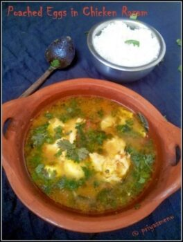 Poached Eggs In Chicken Rasam ( Chaaru / Saaru ) - Plattershare - Recipes, Food Stories And Food Enthusiasts
