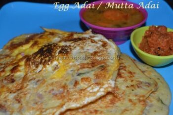 Egg Lentil Dosa / Muttai Adai - Plattershare - Recipes, Food Stories And Food Enthusiasts