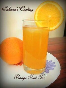 Orange Iced Tea - Plattershare - Recipes, Food Stories And Food Enthusiasts