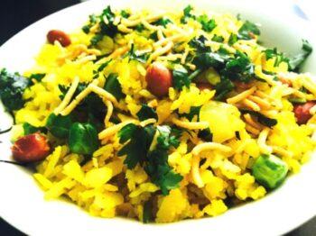 Peas Peanut Poha (Mp Style Breakfast) - Plattershare - Recipes, Food Stories And Food Enthusiasts