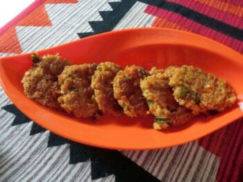 Soya Chunks And Oats Tikki - Plattershare - Recipes, Food Stories And Food Enthusiasts