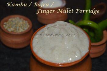 Kambu / Bajra Koozh Or Pearl Millet Porridge - Plattershare - Recipes, Food Stories And Food Enthusiasts