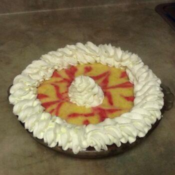 Mango, Raspberry, Peach Chiffon Pie! - Plattershare - Recipes, Food Stories And Food Enthusiasts