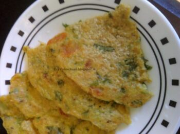 Oats Veggie Pancake - Plattershare - Recipes, Food Stories And Food Enthusiasts