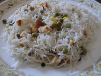 Corn And Pea Pulao - Plattershare - Recipes, Food Stories And Food Enthusiasts