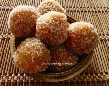 Mango Coconut Kesar Laddu - Plattershare - Recipes, Food Stories And Food Enthusiasts
