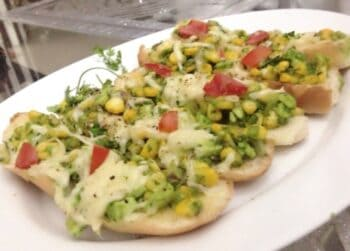 Corn Chutney Open Sandwiches - Plattershare - Recipes, Food Stories And Food Enthusiasts