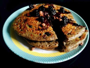 Blueberry Choco Raagi Pancakes - Plattershare - Recipes, Food Stories And Food Enthusiasts