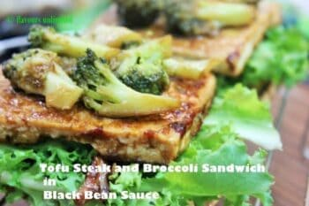Tofu Steak, Broccoli And Pine Nuts Sandwich In Black Bean Sauce - Plattershare - Recipes, Food Stories And Food Enthusiasts
