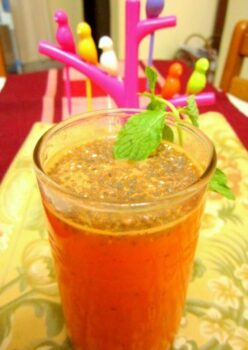 Ginger Flavored Carrot And Orange Fresca With Chia Seeds - Plattershare - Recipes, Food Stories And Food Enthusiasts