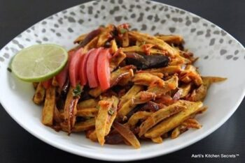 Sookhi Arbi (Dry Eddo) In Fries Style - Plattershare - Recipes, Food Stories And Food Enthusiasts