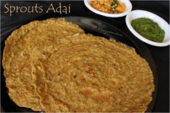Sprouts Adai - Plattershare - Recipes, Food Stories And Food Enthusiasts