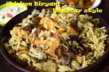 Malabar Chicken Briyani - Plattershare - Recipes, Food Stories And Food Enthusiasts