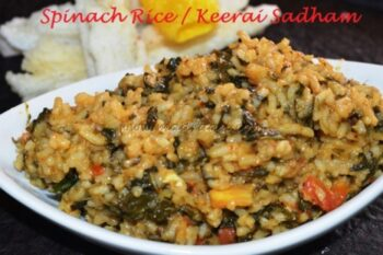 Keerai Sadham / Spinach Rice - Plattershare - Recipes, Food Stories And Food Enthusiasts