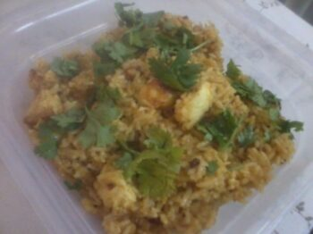 Paneer Pulao - Plattershare - Recipes, Food Stories And Food Enthusiasts