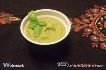 Dhone Paataa Guacamole Chaatney (Coriander Chutney Using Avocado) - Plattershare - Recipes, Food Stories And Food Enthusiasts