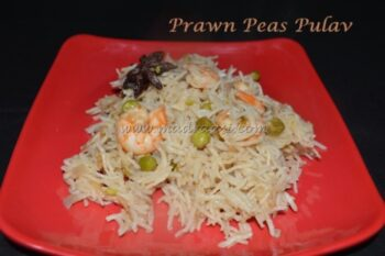 Prawn And Green Peas Pulav - Plattershare - Recipes, Food Stories And Food Enthusiasts