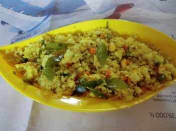 Vegetable Poha/Poha With Carrot,Corn And Green Peas - Plattershare - Recipes, Food Stories And Food Enthusiasts