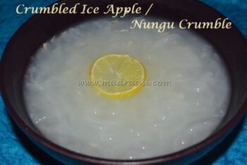 Crumbled Ice Apple / Nungu Crumble - Plattershare - Recipes, Food Stories And Food Enthusiasts