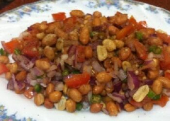Peanut Chaat Recipe - Plattershare - Recipes, Food Stories And Food Enthusiasts