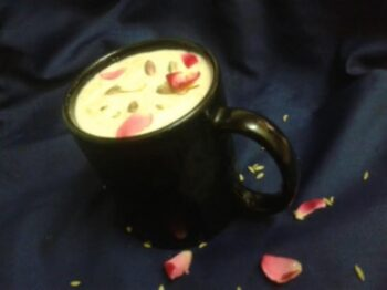 Thandai Flavored Rice Kheer - Plattershare - Recipes, Food Stories And Food Enthusiasts
