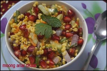 Moong Anaar Chaat - Plattershare - Recipes, Food Stories And Food Enthusiasts