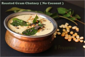Roasted Gram Chutney - Plattershare - Recipes, Food Stories And Food Enthusiasts