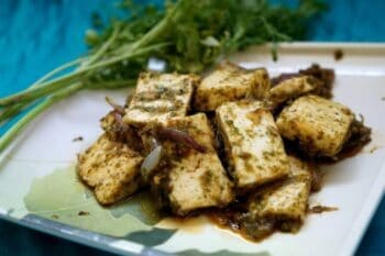 Coriander Paneer - Plattershare - Recipes, Food Stories And Food Enthusiasts