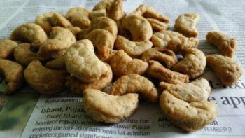 Airfryed Kaju Namkeen Matar - Plattershare - Recipes, Food Stories And Food Enthusiasts
