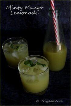 Minty Raw Mango Lemonade - Plattershare - Recipes, Food Stories And Food Enthusiasts