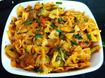 Veggie Farfalle Pasta - Plattershare - Recipes, Food Stories And Food Enthusiasts