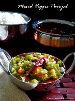 Mixed Veg Poriyal - Plattershare - Recipes, Food Stories And Food Enthusiasts