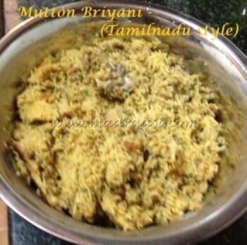 Mutton Briyani Â???? Tamilnadu Style - Plattershare - Recipes, Food Stories And Food Enthusiasts