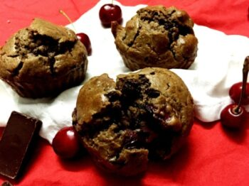 Cherry-Choco Oats Muffins - Plattershare - Recipes, Food Stories And Food Enthusiasts