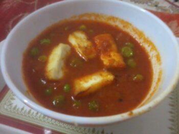 Paneer Matar Sabji - Plattershare - Recipes, Food Stories And Food Enthusiasts