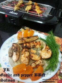 Garlic And Pepper Bbq /Grill Salmon - Plattershare - Recipes, Food Stories And Food Enthusiasts