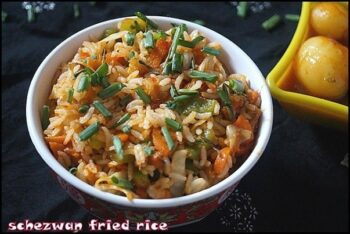 Schezwan Fried Rice - Plattershare - Recipes, Food Stories And Food Enthusiasts
