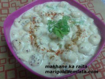 Makhane Ka Raita - Plattershare - Recipes, Food Stories And Food Enthusiasts