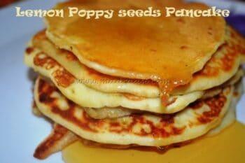 Lemon Poppy Seeds Pancake - Plattershare - Recipes, Food Stories And Food Enthusiasts