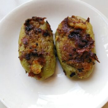 Stuffed Pointed Gourd - Plattershare - Recipes, Food Stories And Food Enthusiasts