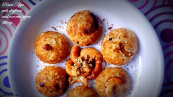 Rava Appe With Dryfruits And Coconut Sugar Filling - Plattershare - Recipes, Food Stories And Food Enthusiasts