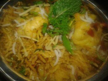 Chetinaad Prawn Biryani - Plattershare - Recipes, Food Stories And Food Enthusiasts