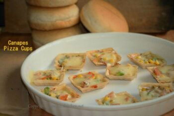 Canapes Pizza Cups - Plattershare - Recipes, Food Stories And Food Enthusiasts